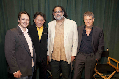 At the New York City Premier with Nawang Khechog, Tushar Gandhi and David Sanborn